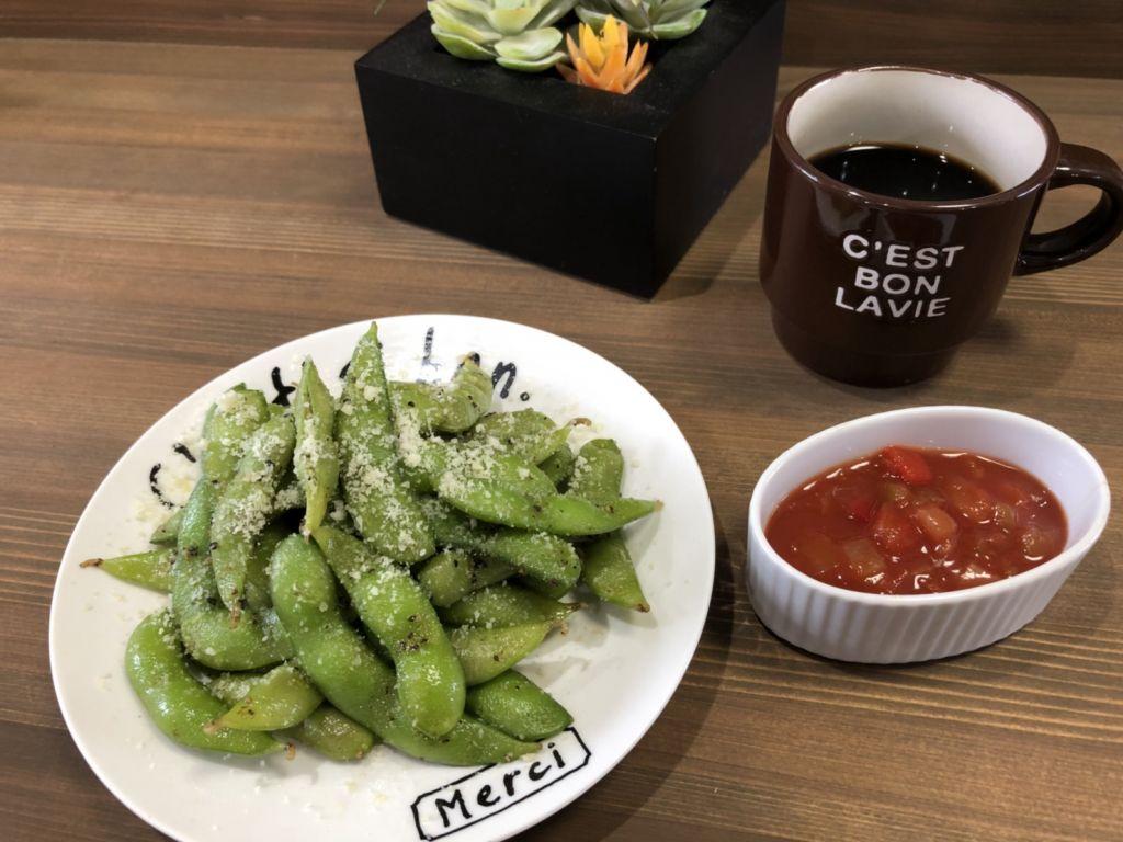 イタリアンバル風焼き茶豆!